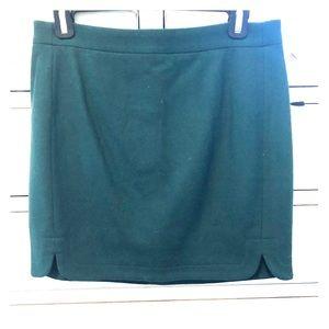 Dark Green J. Crew mini skirt
